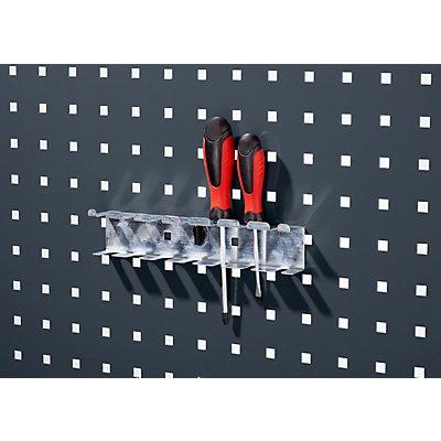 Schraubendreherhalter - BxH 225 x 65 mm, mit 7 Aufnahmen