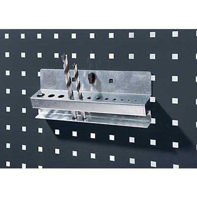 Bohrerhalter - BxH 225 x 65 mm, mit 13 Aufnahmen