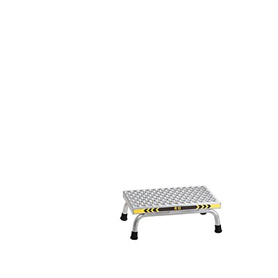 Günzburger Steigtechnik EUROKRAFT Montagetritt, rutschhemmend - Trittfläche 550 x 300 mm
