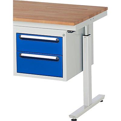 RAU Unterbau-Schubladencontainer - BxT 490 x 600 mm, für Tisch-Serie 300