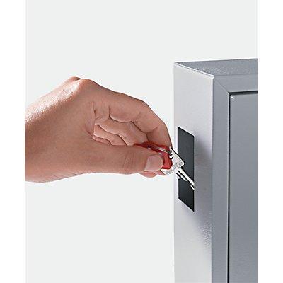 QUIPO Schlüsselschrank - mit Einwurfschlitz, lichtgrau