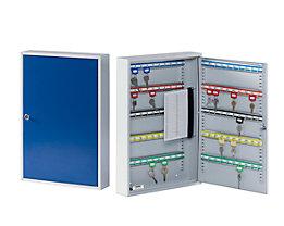 QUIPO Schlüsselschrank - mit 21 bis 300 Haken, Korpus und Türen lichtgrau