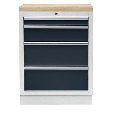 schubladen unterschrank mit 4 schubladen hxbxt 910 x 680 x 460 mm. Black Bedroom Furniture Sets. Home Design Ideas