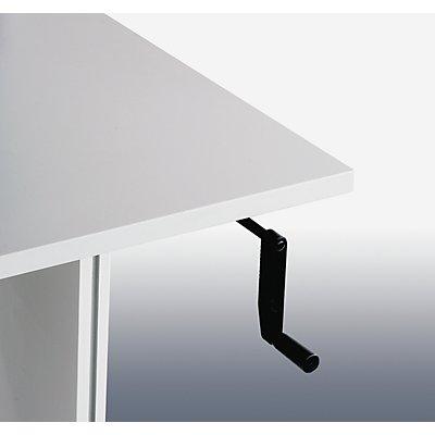Arbeitstisch WB mit Handkurbel, BxT 1800 x 800 mm