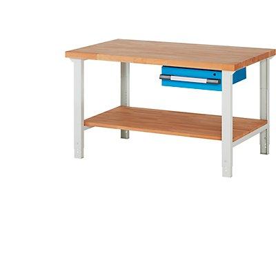 EUROKRAFT Werkbank - 1 Schublade, 1 Ablageboden