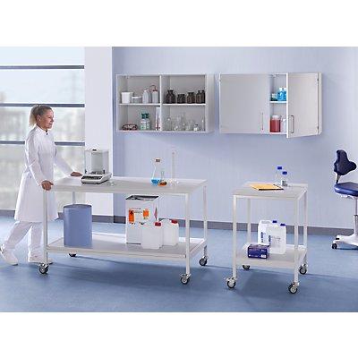 Labor-Fahrtisch, mit Ablageboden, Tragfähigkeit 200 kg