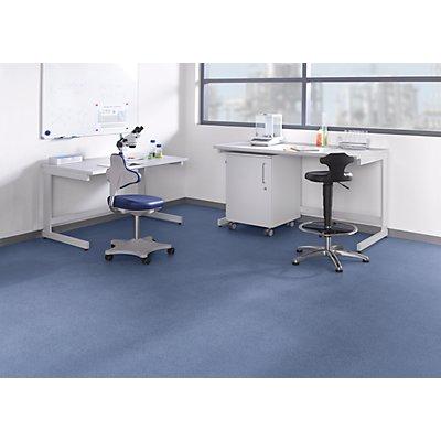 Labortisch mit C-Fuß-Gestell, Sitzarbeitshöhe 750 mm