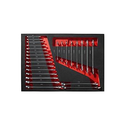Werkzeugwagen mit 137 Werkzeugen - in 4 praktischen Shadowboards - mit 5 kugelgelagerten Schubladen
