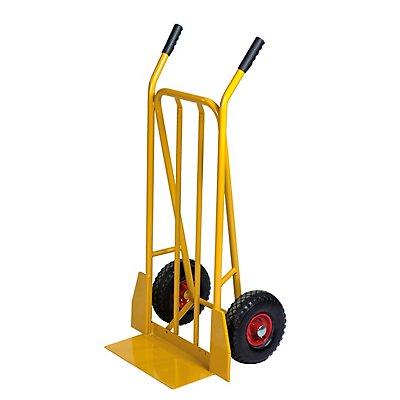 Kongamek Sackkarre - Tragfähigkeit 250 kg, mit Luftbereifung - gelb