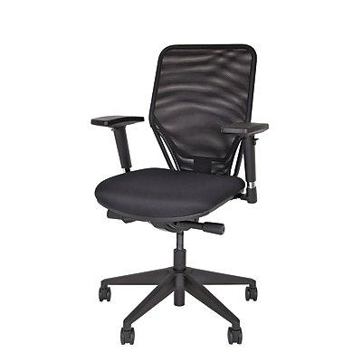 Bisley Bürodrehstuhl Optime - schwarz, mit Armlehnen