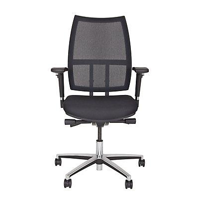 Bisley Bürodrehstuhl Maxime - schwarz, mit Netzrückenlehne