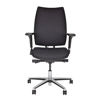 Bisley Bürodrehstuhl Upscale - schwarz, mit gepolsterter Rückenlehne