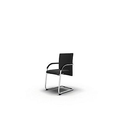 Bisley Besucherstuhl Classy - mit verchromtem Freischwinger-Gestell und Armlehnen | BSF733
