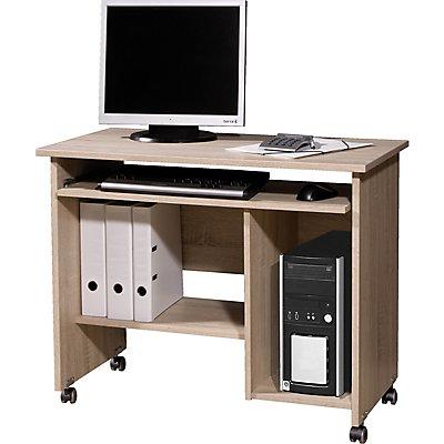 Certeo Computertisch   HxBxT 72 x 90 x 48 cm   Sonoma-Eiche
