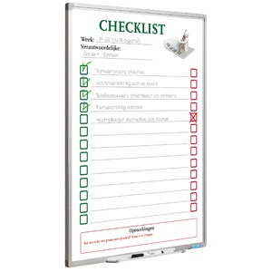 Whiteboard Checkliste