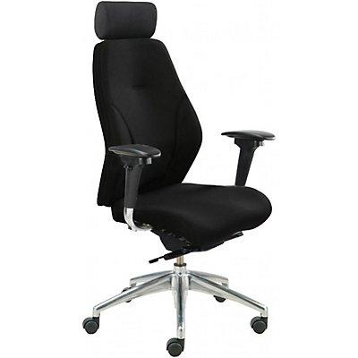 Bürostuhl iTask - mit hoher Rückenlehne, schwarz