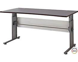 """Certeo Schreibtisch mit C-Füßen """"Bern"""" HxBxT 700 x 800 x 1600 x 800 mm, lärche/Aruba-eiche"""