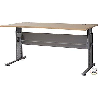 Certeo Schreibtisch mit C-Füßen Bern