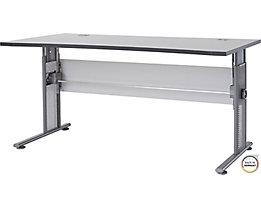 """Certeo Schreibtisch mit C-Füßen """"Bern"""" HxBxT 700 x 800 x 1600 x 800 mm, lichtgrau"""