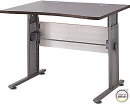 """Certeo Schreibtisch mit C-Füßen """"Bern"""" HxBxT 800 x 1000 x 800 mm, lärche/Aruba-eiche"""