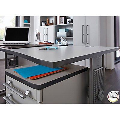 Certeo Schreibtisch mit C-Füßen Bern HxBxT 800 x 1000 x 800 mm
