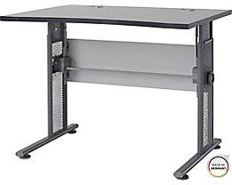 """Certeo Schreibtisch mit C-Füßen """"Bern"""" HxBxT 800 x 1000 x 800 mm, lichtgrau"""