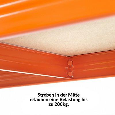 Stabiles Kellerregal - Tragkraft bis zu 265 Kg pro Fachboden - HxBxT 1780 mm x 1500 mm x 400 mm