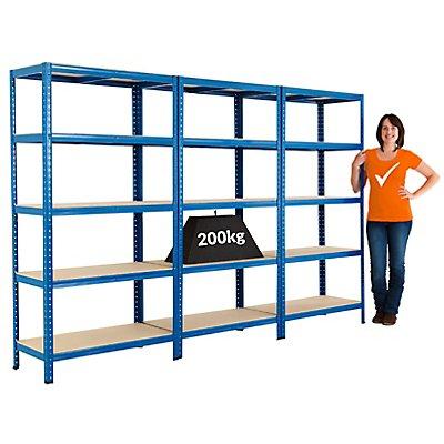 Mega Deal | 3x Garagenregale - Tiefe 45 cm | Tragkraft 200 kg pro Fachboden