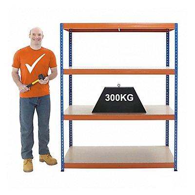 Stabiles Schwerlastregal - Tragkraft bis zu 300 Kg pro Fachboden