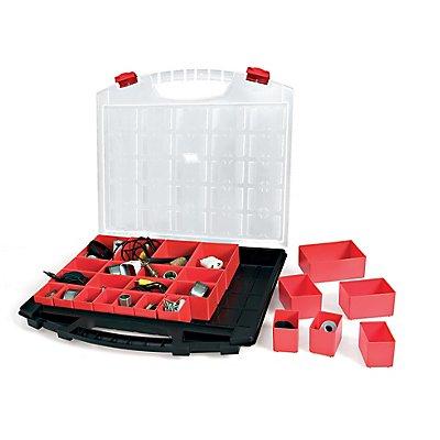 Sortimentsbox mit 25 herausnehmbaren Boxen - unbestückt - HxBxT 430 x 370 x 55 mm