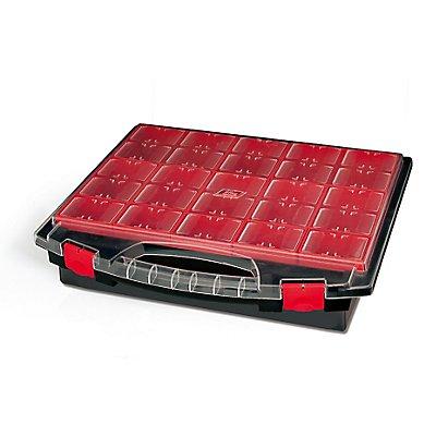 Sortimentsbox mit 25 herausnehmbaren Boxen - unbestückt - HxBxT 430 x 370 x 85 mm