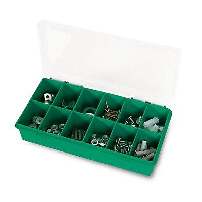 Sortimentsbox mit diversen Fächern - unbestückt - HxBxT 250 x 140 x 54mm