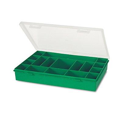 Sortimentsbox mit diversen Fächern - unbestückt - HxBxT 330 x 247 x 54 mm