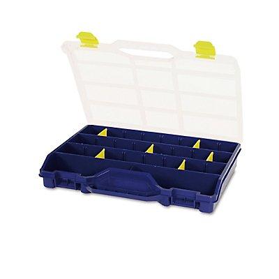 Sortimentsbox mit diversen Fächern und herausnehmbaren Trennern - unbestückt - HxBxT 378 x 290 x 61 mm