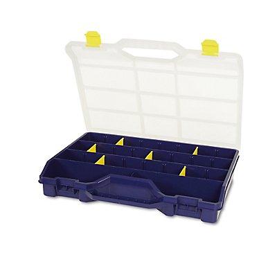 Sortimentsbox mit diversen Fächern und herausnehmbaren Trennern - unbestückt - HxBxT 460 x 350 x 81 mm