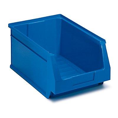 Schwerlastregal mit 40 blauen Sichtlagerkästen im Set - HxBxT 1780 x 1200 x 400 mm