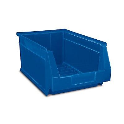 Schwerlastregal mit 20 blauen, großen Sichtlagerkästen im Set - HxBxT 1780 x 1500 x 450 mm