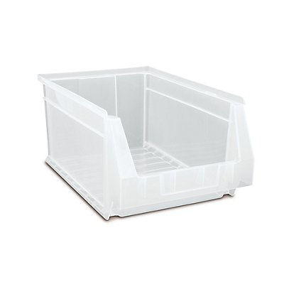 Sichtlagerkasten 12 Stück - 22,2 Liter, transparent - HxBxT 200 x 303 x 500 mm