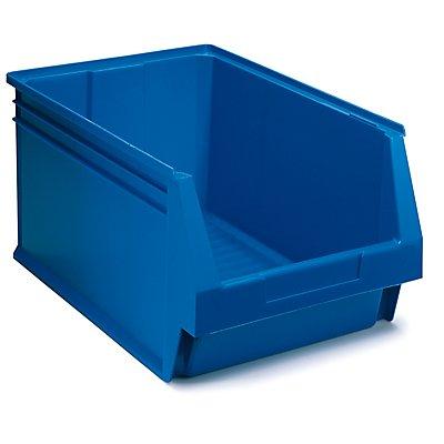 Schwerlastregal mit 8 blauen Sichtlagerkästen im Set - HxBxT 1780 x 900 x 600 mm