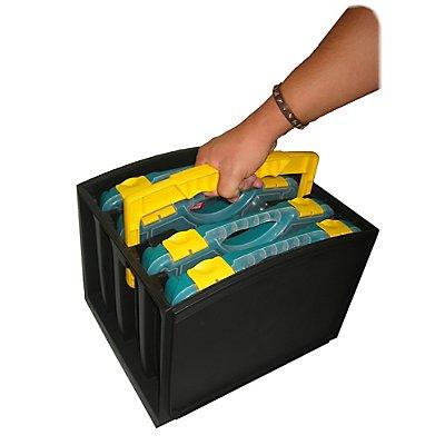Sortimentskasten mit Tragegriff - 4 Fächer und herausnehmbaren Sortimentsboxen - HxBxT 335 x 250 x 275 mm