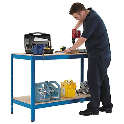 Höhenverstellbare Werkbank - Traglast bis zu 300 kg pro Fachboden