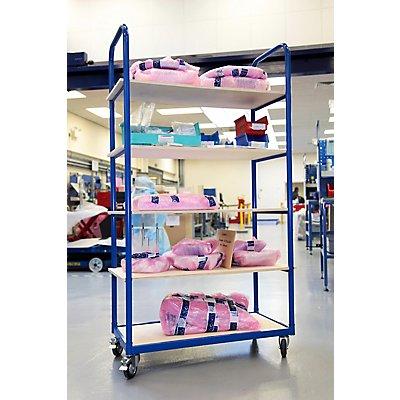 Stabiler Kommissionierwagen - Tragkraft bis zu 50 kg pro Fachboden