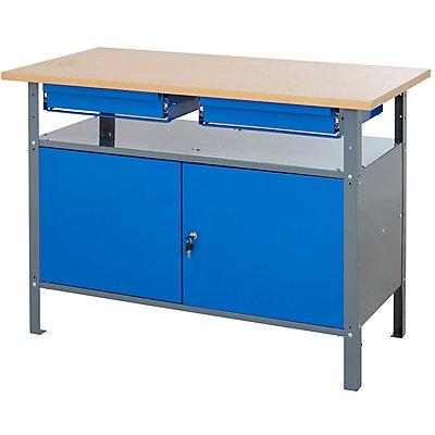 werkbank mit schubladen traglast bis zu 250 kg. Black Bedroom Furniture Sets. Home Design Ideas