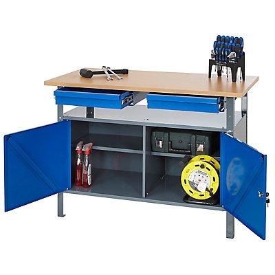 Werkbank mit Schubladen - Traglast bis zu 250 kg