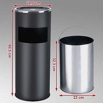 Songmics Standaschenbecher - 12,3 Liter Volumen - HxBxT 60,5 x 24,5 x 24,5 cm