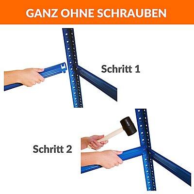 Mega Deal | 1x Werkbank und 3x Schwerlastregal | Tiefe 30 cm