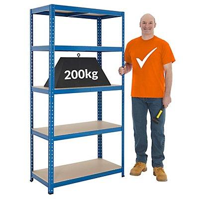 Mega Deal | 1x établi et 3x rayonnages pour charges lourdes | profondeur 45 cm
