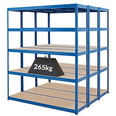 Mega Deal | 3x Schwerlastregal - Tiefe 45 cm | 265 kg pro Fachboden