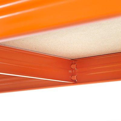 Stabiles Garagenregal - Tragkraft bis zu 265 Kg pro Fachboden - HxBxT 1780 mm x 1200 mm x 400 mm