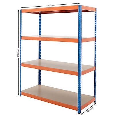 Mega Deal | 3x rayonnages pour charges lourdes - profondeur 60 cm | 300 kg par étagère